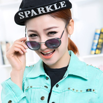 High Black Simple Punk Style Alloy Sunglasses
