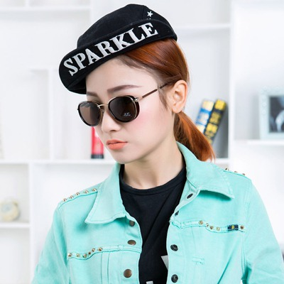 French Leopard Simple Punk Style Alloy Women Sunglasses