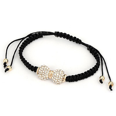 Athletic White Bowknot Shape Design Alloy Korean Fashion Bracelet