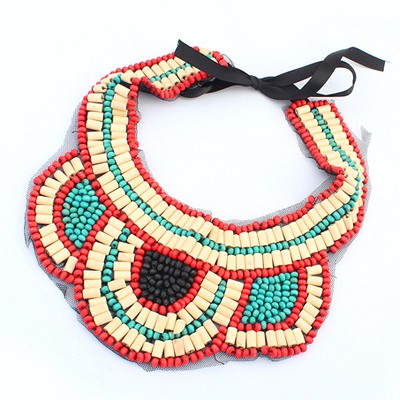 Sling Multicolor Beads Weave Collar Desing Measle Beaded Necklaces