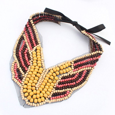 Executive Multicolor Beads Weave Collar Desing Measle Bib Necklaces