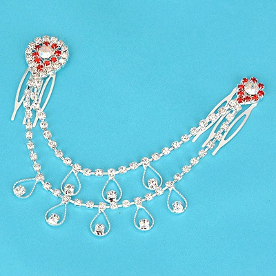 Rachel Plum Red Water Drop Shape Design Alloy Hair clip hair claw