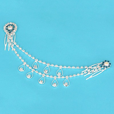 Top Rated Green Water Drop Shape Design Alloy Hair clip hair claw