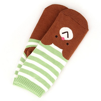 Hot Brown Bear Pattern Design Cotton Fashion Socks