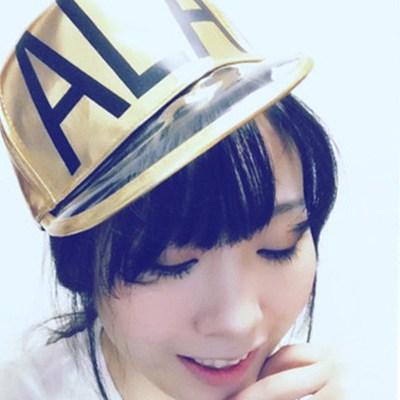 2013 Gold Color Transparent Ala Letters Design Pu Fashion Hats