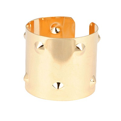 Infant Gold Color Double Layer Rivet Open Design Alloy Fashion Bangles