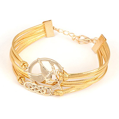 Free Gold Color Multilayer Bird Design Alloy Korean Fashion Bracelet