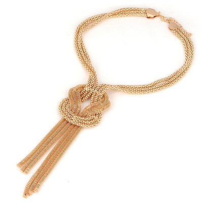 Concealed Gold Color Three Layer Twine Design Alloy