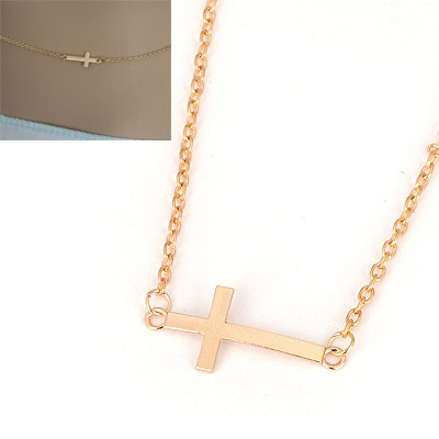 Nautical Gold Cross Simple Design Alloy Chains