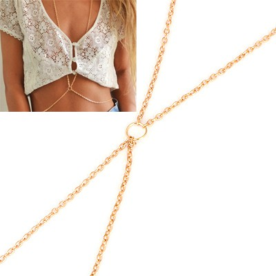 Petite Gold Simple Design Alloy Body Chains
