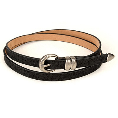Used Black Copper Buckle Design Pu Thin belts