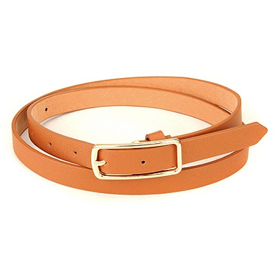 Designs Brown Square Shape Simple Design Pu Thin belts