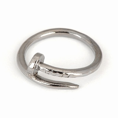 Premier Gun Black Nail Shape Simple Design Alloy Korean Rings