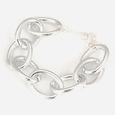 Minted Silver Color Series Chain Simple Design Alloy Korean Fashion Bracelet