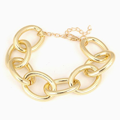 Newborn Gold Color Series Chain Simple Design Alloy Korean Fashion Bracelet