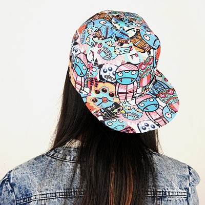 Chiropract Blue Zombies Pattern Design Cotton Polyester Baseball Caps