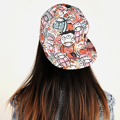 Define Red Zombies Pattern Design Cotton Polyester Baseball Caps