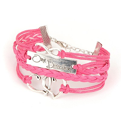 Travel Watermelon Red Multielement Decorated Multilayer Design Alloy Korean Fashion Bracelet