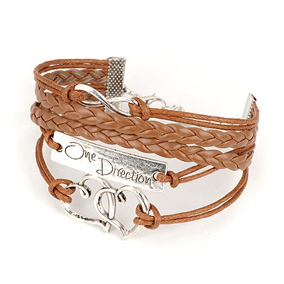 Scottish Brown Multielement Decorated Multilayer Design Alloy Korean Fashion Bracelet