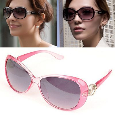 Hemming Pink Large Frame Design Alloy Sunglasses