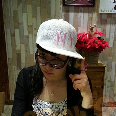 Attractive White Embroidery Ny Lace Flower Design Cotton Polyester Fashion Hats