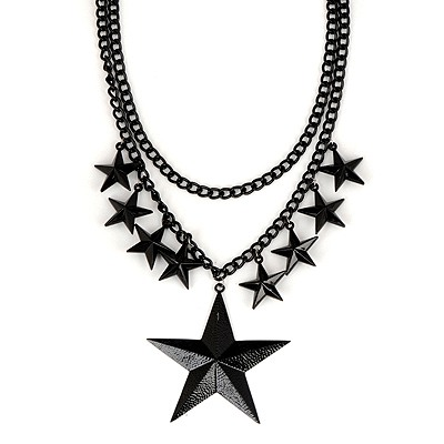 Flirty Black Star Decorated Simple Design Alloy Pendants