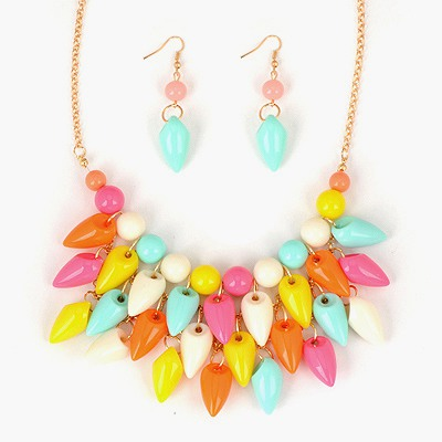 Scrapbooki Multicolor Pepper Shape Tassels Design Alloy Jewelry Sets