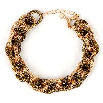 Light Gold Color Braided Chain Design Alloy Chains