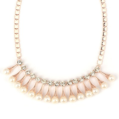 Torrid White Light Bulb Shape Pendant Design Alloy Bib Necklaces