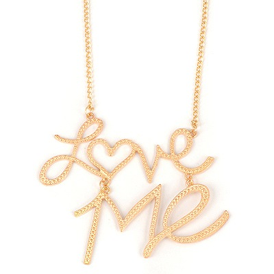 Fashion Gold Color Letter Love Me Pendant Design