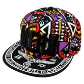 Sanctuary Black Embroidery Motv Hip Hop Flat Brim Design Canvas Baseball Caps