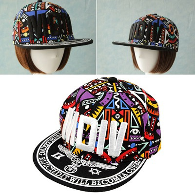 Infinity White Embroidery Motv Hip Hop Flat Brim Design Canvas Baseball Caps