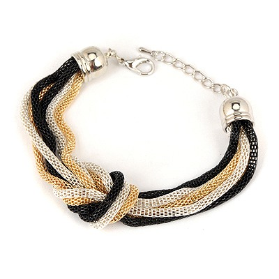 Mechanical Picture Color Chain Simple Weaving Design Alloy Korean Fashion Bracelet