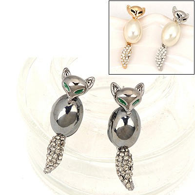 Caterpilla Color Will Be Random Fox Shape Design Alloy Stud Earrings
