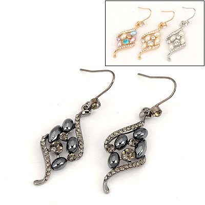 Lined Color Will Be Random Square Shape Design Alloy Fashion earrings