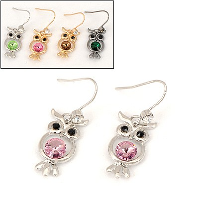 Scrabble Color Will Be Random Owl Pendent Design Alloy Fashion earrings
