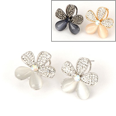Marvelous Color Will Be Random Flower Shape Design Alloy Stud Earrings