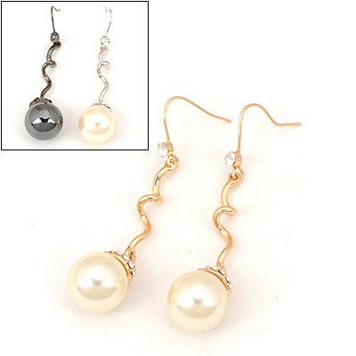 Sample Color Will Be Random Pearl Pendent Design Alloy Fashion earrings