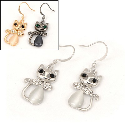 Hanging Color Will Be Random Cat Shape Design Alloy Fashion earrings