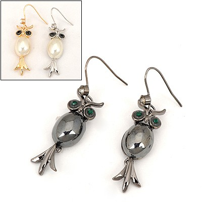 Milly Color Will Be Random Owl Pendent Design Alloy Fashion earrings