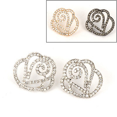 Cocktail Color Will Be Random Hollow Out Flower Design Alloy Stud Earrings
