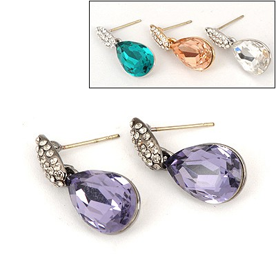 Rave Color Will Be Random Water Drop  Design Alloy Stud Earrings