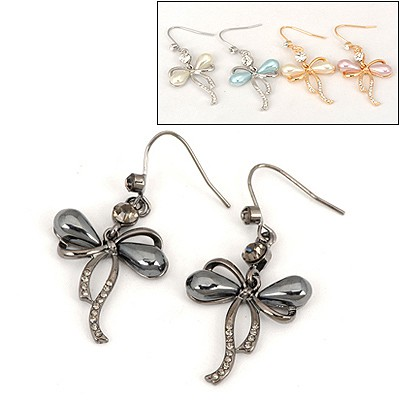 Hanging Color Will Be Random Hollow Out Bowknot Design Alloy Fashion earrings