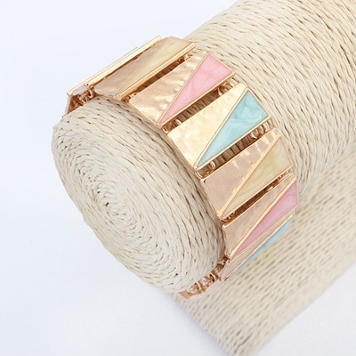 Sanctuary Multicolor Square Shape Simple Design Alloy Korean Fashion Bracelet