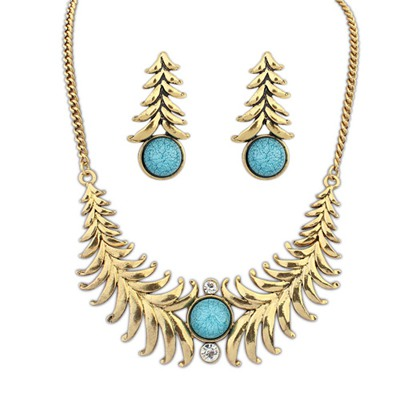 Fake Blue Exotic Personality Geometric Shape Design Alloy Jewelry Sets