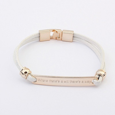Specialty White Metal Decorated Simple Design CCB Korean Fashion Bracelet
