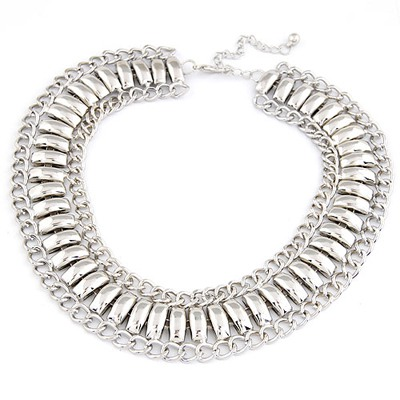 Noble Silver Color Exaggerate  Metal Chain Design Alloy Chains