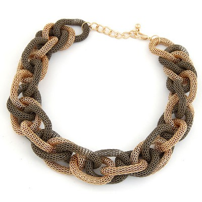 Top Rated Dark Gray Double Color Metal Chain Thick Design Alloy Chains