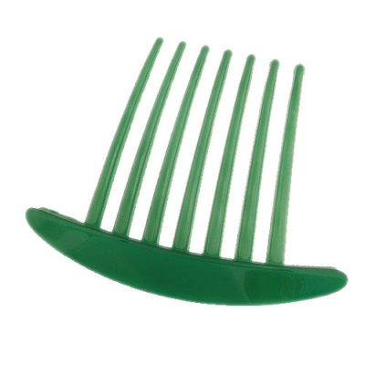 Corduroy Green Seven Tooth Simple Design Rosin Hair clip hair claw