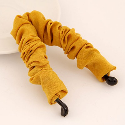 Ultra Yellow Wave Shape Ribbon Decorated Simple Design Rosin Hair clip hair claw